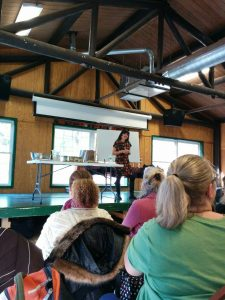 Rosemary Gladstar sharing herbal information and making Zoom balls.