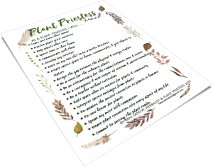 plant priestess poster
