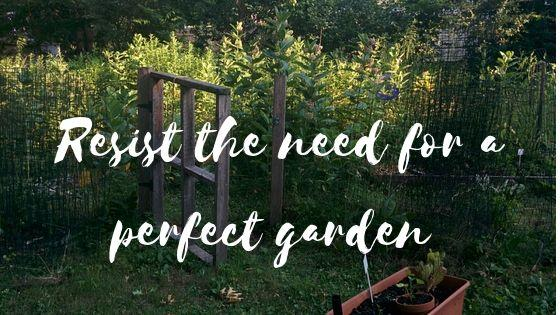 Resist the need for a perfect garden